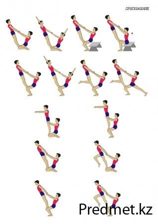 Групповые акробатические упражнения на уроках гимнастики