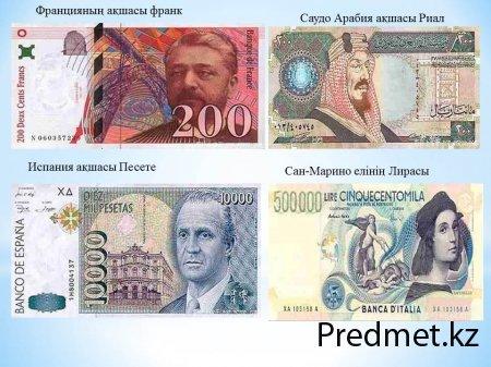 Дүниежүзілік валютаның түрлері.  Ұлттық валюта